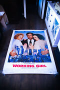 Working Girl Harrison Ford 4x6 Ft Bus Shelter Movie Poster Original 1988