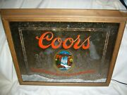 Vintage Adolph Coors Co. 1980 Lighted Mirror Wall Hanging Beer Sign