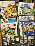Lot Nintendo 3ds Games Boxes Lit. Huge Mario And More, Wooow