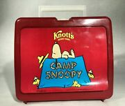 Vintage Knott's Camp Snoopy Lunch Box With Thermos