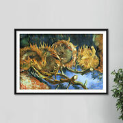 Vincent Van Gogh - Four Withered Sunflowers 1887 - Art Print Painting Poster
