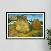 Vincent Van Gogh - Wheat Stacks In Provence 1888 - Art Print Painting Poster