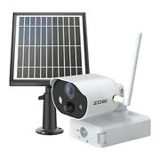 Zosi Wireless Solar Battery Powered Security Ip Camera 1080p Wirefree Outdoor