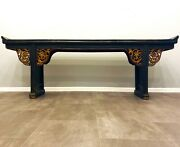 Antique 19th Century Qing Dynasty Chinese Altar Table - Over 8 Foot Long