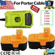 For Ryobi One+ Plus 18 Volt Nicd Andnimh P100 13022 Abp1801 Battery Or Charger 18v