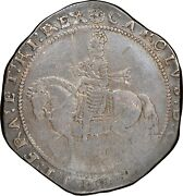 1642-1643 King Charles I England Uk Britain Silver Crown Truro Mint S-3045 Vf25