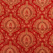 Antique Turkey Red Printed - Medallion - Cotton Fabric - 17 X 20 - Quilters