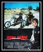 Easy Rider Style B 4x6 Ft Vintage French Grande Movie Poster Rerelease 1989