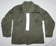 Original 1984 Usaf Field Jacket W/ Patches Insignia And Flight Line Reflectors