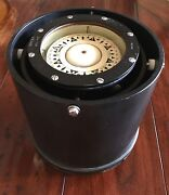 Vintage Bergen Nautik Norway Compass Bn25a Nsk 71 Gimbal Nautical 86404