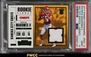 2017 Panini Contenders Patrick Mahomes Ii Rookie Rc Patch Sw-3 Psa 9 Mint