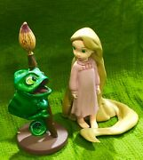 Disney Store Tangled Child Rapunzel And Pascal Pvc Figure Cake Topper Figures