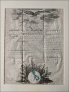 Beautiful President James Madison Signed U S Naval Commission 1812 War Dated
