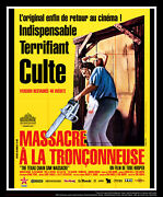Texas Chainsaw Massacre 4x6 Ft Vintage French Grande Movie Poster Rerelease 1982