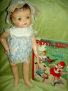 Outstanding 19 Tall, Compo Effanbee Patsy Ann Doll 1932 And Book All Original