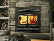 Osburn Stratford Wood Burning Zc Fireplace With Blower And Cast Iron Double Door