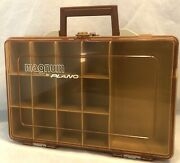 Vintage Magnum By Plano Double Sided Portable Fishing Tackle Box Organizer 1126