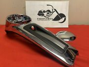 Genuine Chrome Harley Fuel Tank Console Dash Panel And Door 61270-08 61300576 New