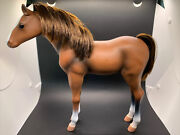 Our Generation Doll Horse Large 12 Battat Standing Foal Plastic Toy Brown