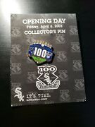 Rare 100 Years White Sox Collectors Pin Opening Day Friday April 6th 2001