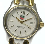 Tag Heuer Cell S05.013m Quartz Beige Dial Ss Gp Boys Watch Used