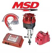Msd Ignition Kit Programmable 6al-2/distributor/wires/coil Ford 351w Roller Cam
