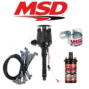 Msd 99003 Black Ignition Kit Ready To Run Distributor/wires/coil/bracket - Sbc