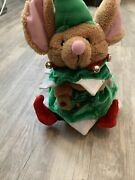 Euc 2004 Gemmy Animated / Lights Up Christmas Dancing Singing Mouse Tested