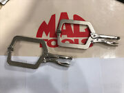 """Mac Tools Pair Of 9"""" C-clamp With Swivel Pads Locking Pliers"""