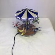 Vintage Wind-up Spinning Carousel Planes Clockwork Collectible Tin Toy Gifts