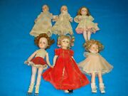 Vintage 1314 Shirley Templealexander And More Composition Plastic Doll Lot