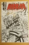 Ultra Rare Wwe Ultimate Warrior Dual Autographed Comic Book Issue 4 1st Print
