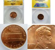2006 Error Coin. Double Ear Ddo-004 Fs-101 Lincoln Cent Red Scarce Anacs Ms 64