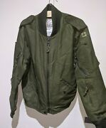 Tactical Helicopter Crew Flying Jacket 70-36 Military Surplus Flag On Shoulder