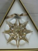 2009 Scs Gold Large Christmas Ornament 1026761 New In Box