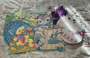Vintage Easter Diecut Cardboard Cutout Decorations Lot Of 7  1