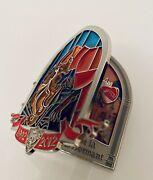 Disney Sleeping Beauty And Fairies Stained Glass Limited Edition Jumbo Pin- Rare