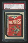 1973 Topps Wacky Packages Cloth Sticker Weakies Psa 7 Impossible Grade