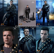 Hot Toys 1/6 Dx10 Terminator 2 Judgement Day T-800 Arnold Sealed In Brown Box