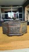 Old Collectible Chinese Bronze Jewelry Box