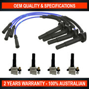 Swan Ignition Coil Pack And Topgun Lead Kit For Subaru Forester Ej205 2.0l Turbo