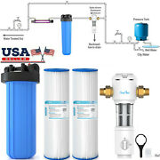 20 Big Blue Whole House Water Filter System / Pleated Sediment Water Filters