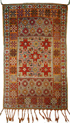 Handmade Antique Moroccan Berber Rug 3.2and039 X 5.5and039 99cm X 168cm 1900 - 1c292