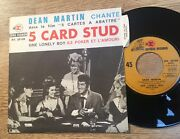 Actors French Sp Picture Sleeve Dean Martin 5 Card Stud 1968 Near Mint