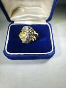 18kt Yellow Gold Vintage Sapphire And Diamond Ring
