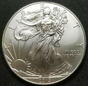 2013 1 Oz 0.999 Fine American Silver Eagle From Us Mint Roll Uncirculated