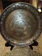 Antique Silver Platter By Derby S.p. Co. International S.co. Near Mint Condition