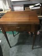 Vintage Singer Sewing Machine Cabinet Table With Bracket For 301a Refinished