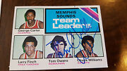 1975 Topps Memphis Sounds Aba Leaders Card Signed Tom Owens Chuck Williams 281