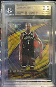 2019-20 Panini Select Kevin Durant Gold Wave Courtside Bgs 9.5 Nets Ssp Psa10